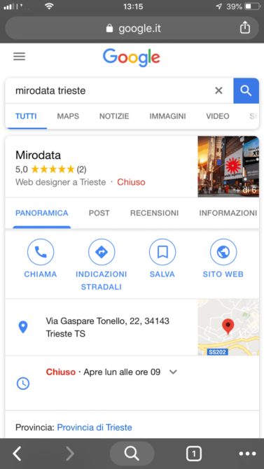 Google My Business Mirodata